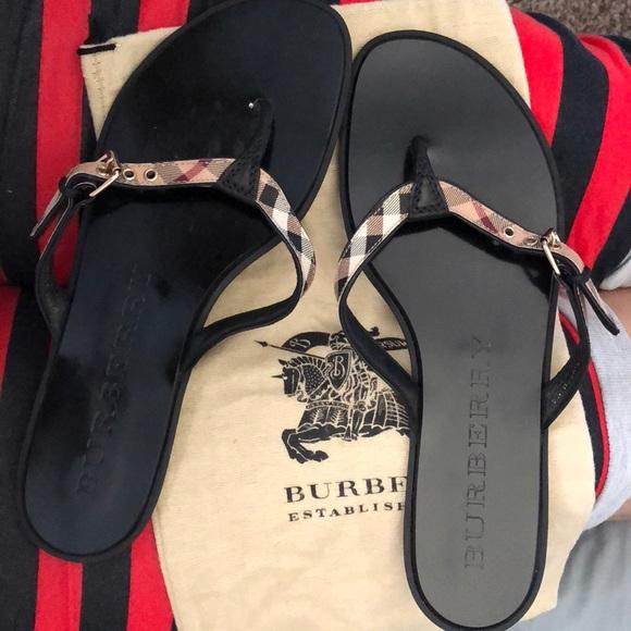 Women Burberry Sandals | Poshmark